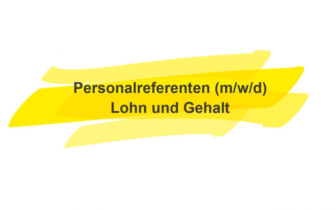 Personalreferent Lohn- und Gehalt (m/w/d)